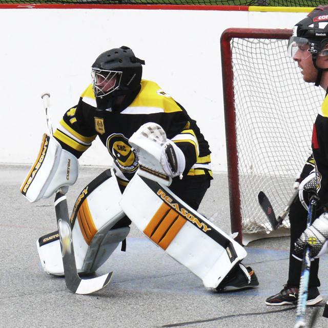 ball hockey goalie