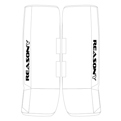 ball hockey goalie pads white