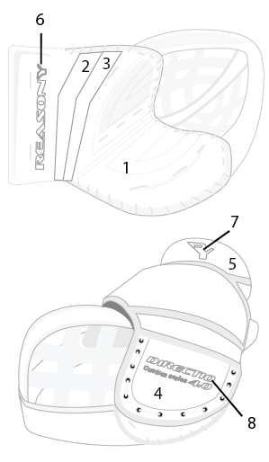 ball hockey goalie glove template
