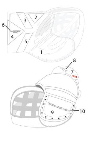 ball hockey goalie glove template