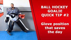 ball hockey goalie training glove position