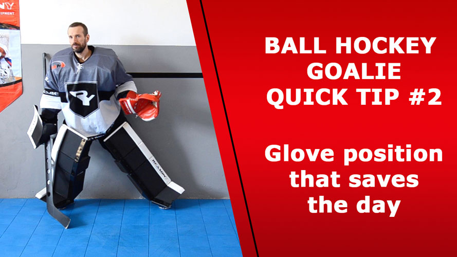 ball hockey goalie training glove position
