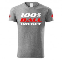 100% Ballhockey Canada T-shirt SLIM FIT GREY