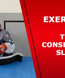 Ball hockey goalie – Exercise 4 – Sliding exercise in the goalie crease