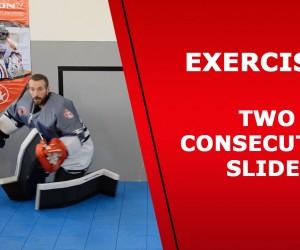 Ball hockey goalie – Exercise 4 – Sliding exercise in the goalie crease